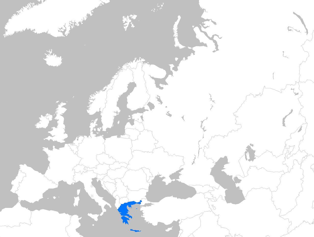 Kreikka Kartta Euroopan Kartta Kreikka Euroopassa Etela