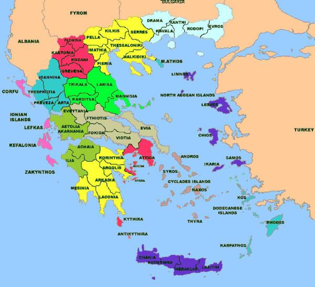 Kreikassa Koulut Kartta Hellas Koulut Kartta Etela Euroopassa