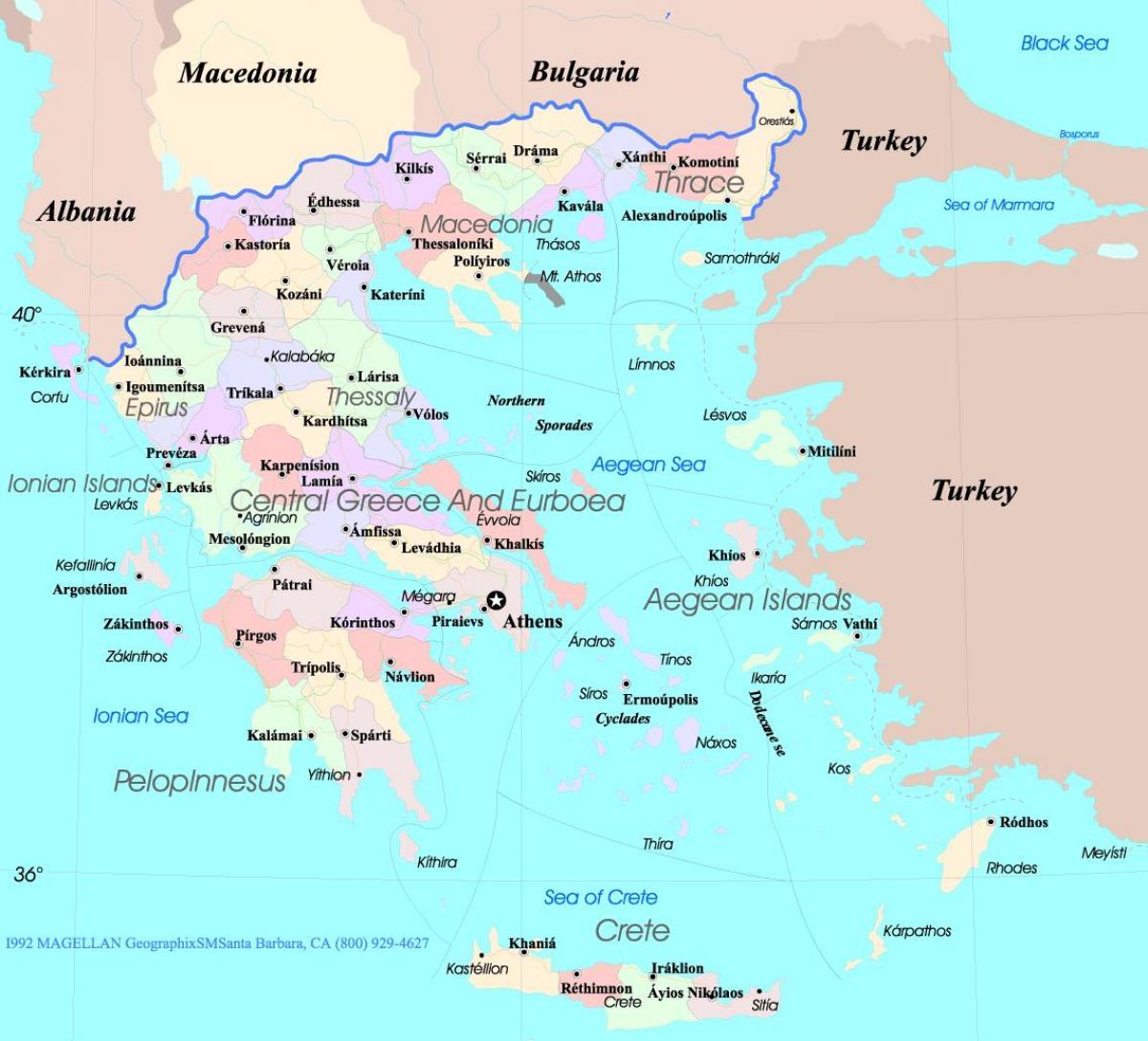 Kreikka Kartta Englanti Kartta Kreikka Englanti Etela